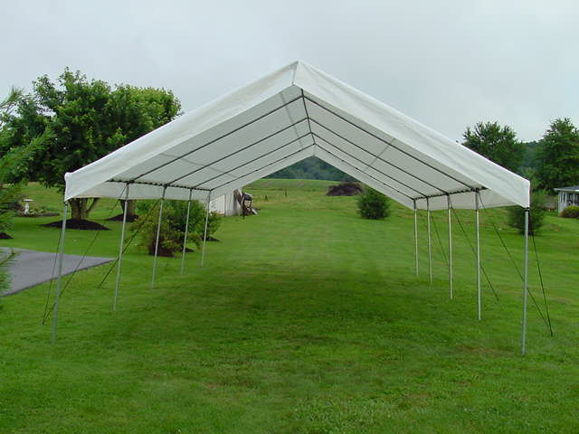 Canopy 18x40 white for 18x40 frame